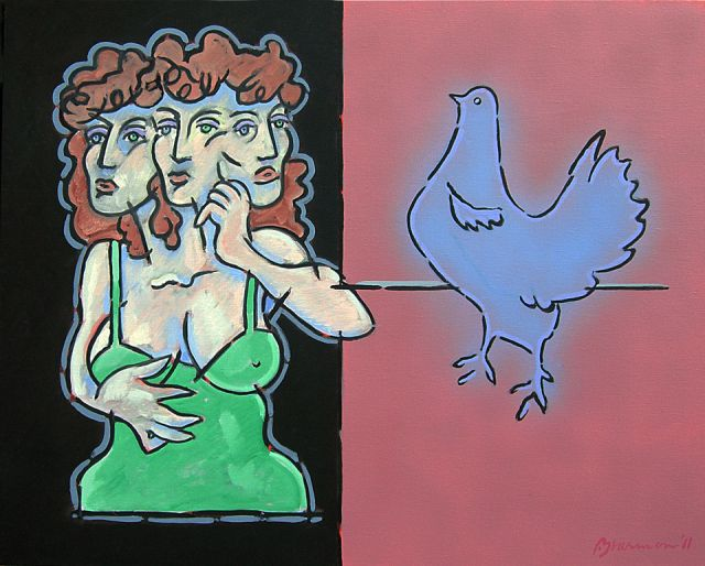 The Curious Woman & the Fat Hen