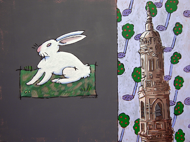 Hare with Tower